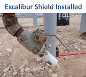 fig5. Excalibur Shield Installed