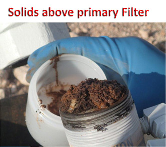 fig6. Solids above primary Filter